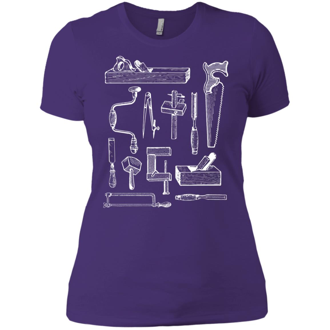 Woodworking Tools for Carpenters and Woodworkers Women Short Sleeve