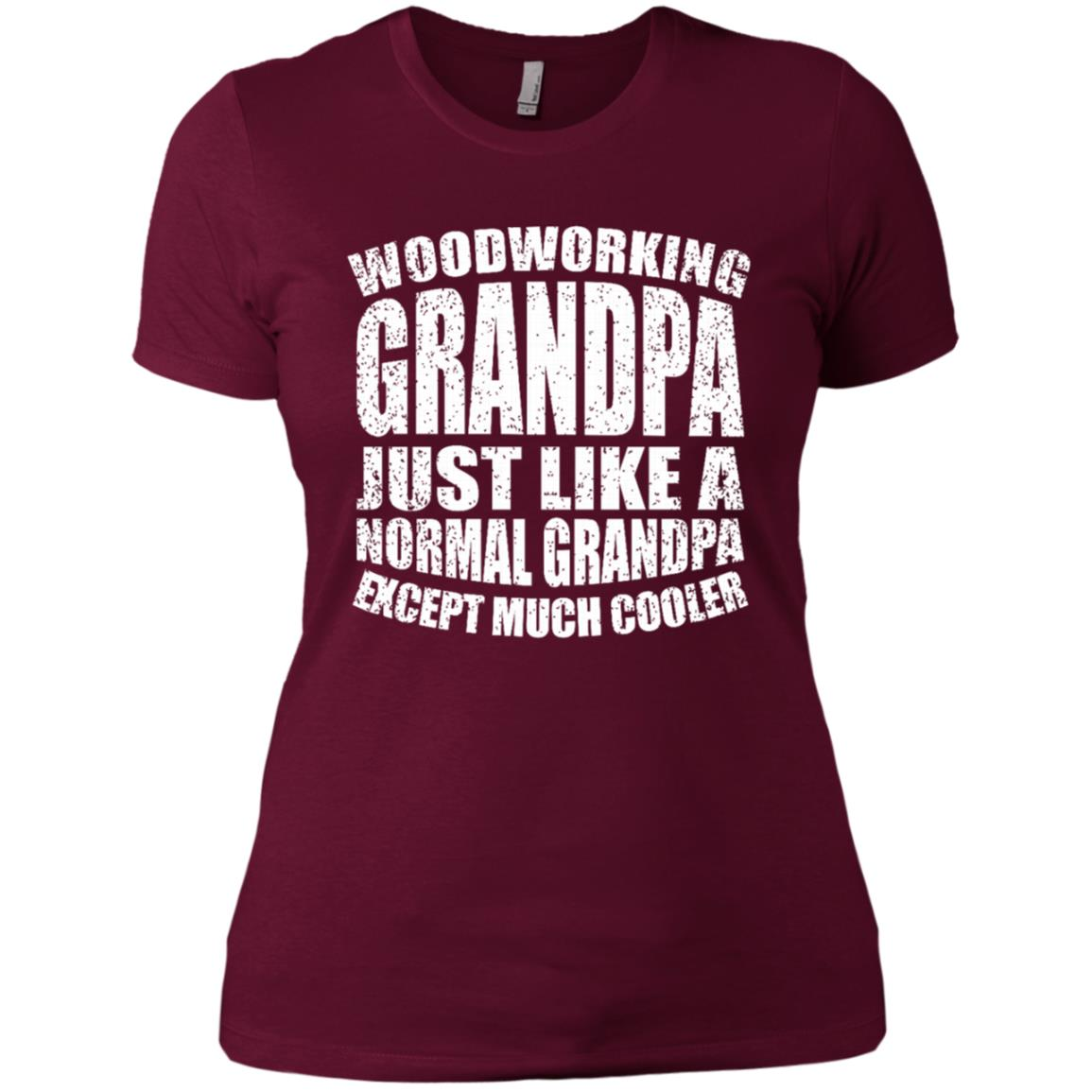 Woodworking Grandpa Funny Dad Father's Day Gift Men-1 Women Short Sleeve