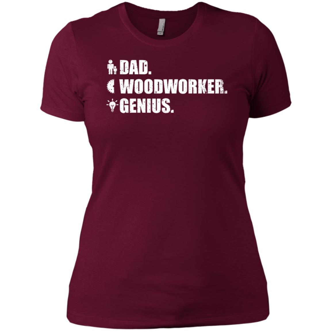Woodworker Genius Funny Men Gift Dad Woodworking Women Short Sleeve