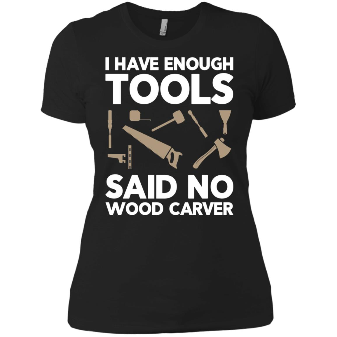 Wood Carving Woodworking -3 Women Short Sleeve