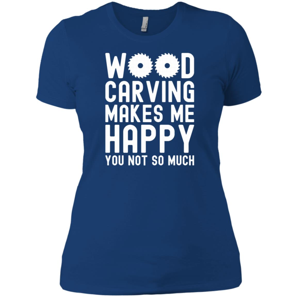 Wood Carving Woodworking Women Short Sleeve