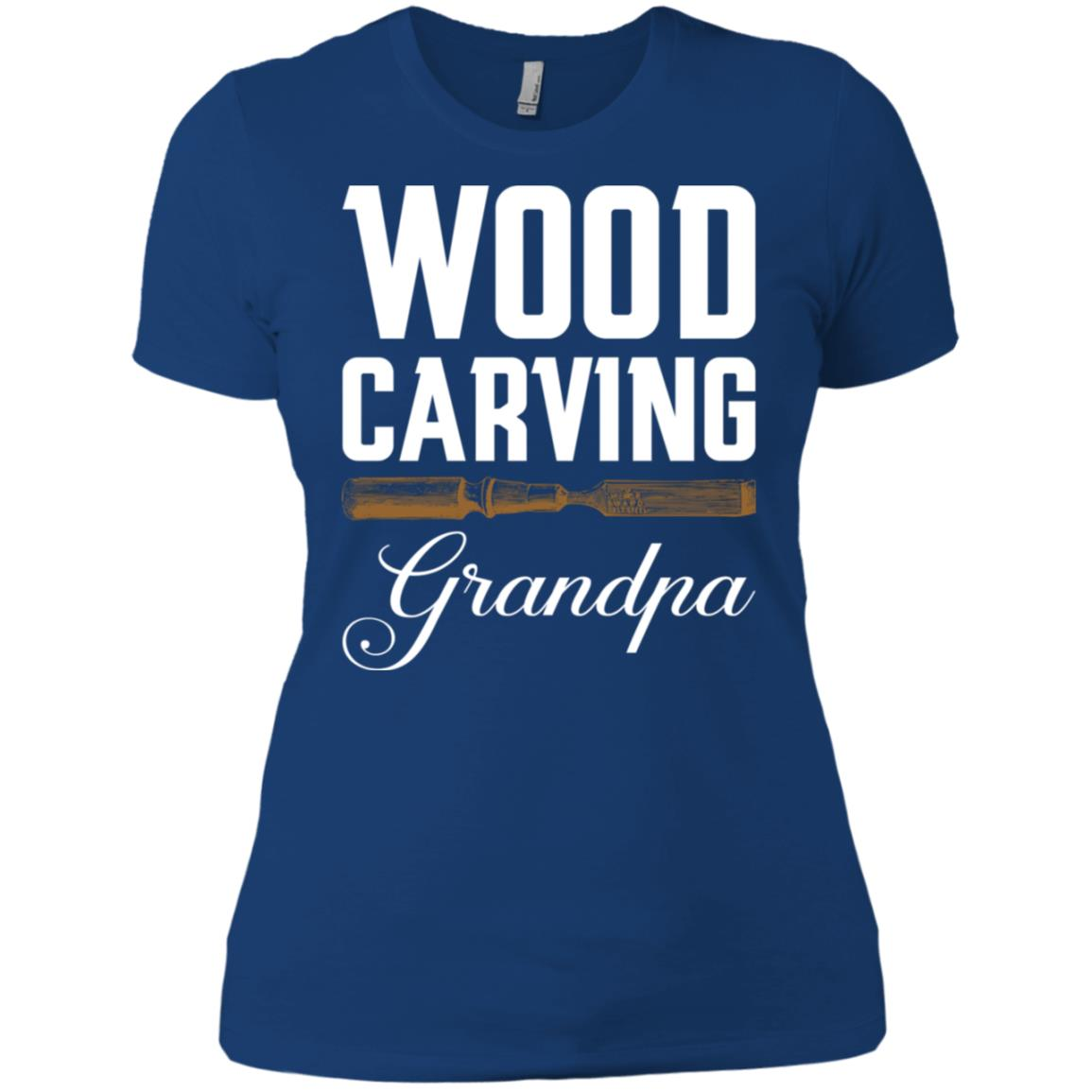 Wood Carving Grandpa Woodworking Women Short Sleeve