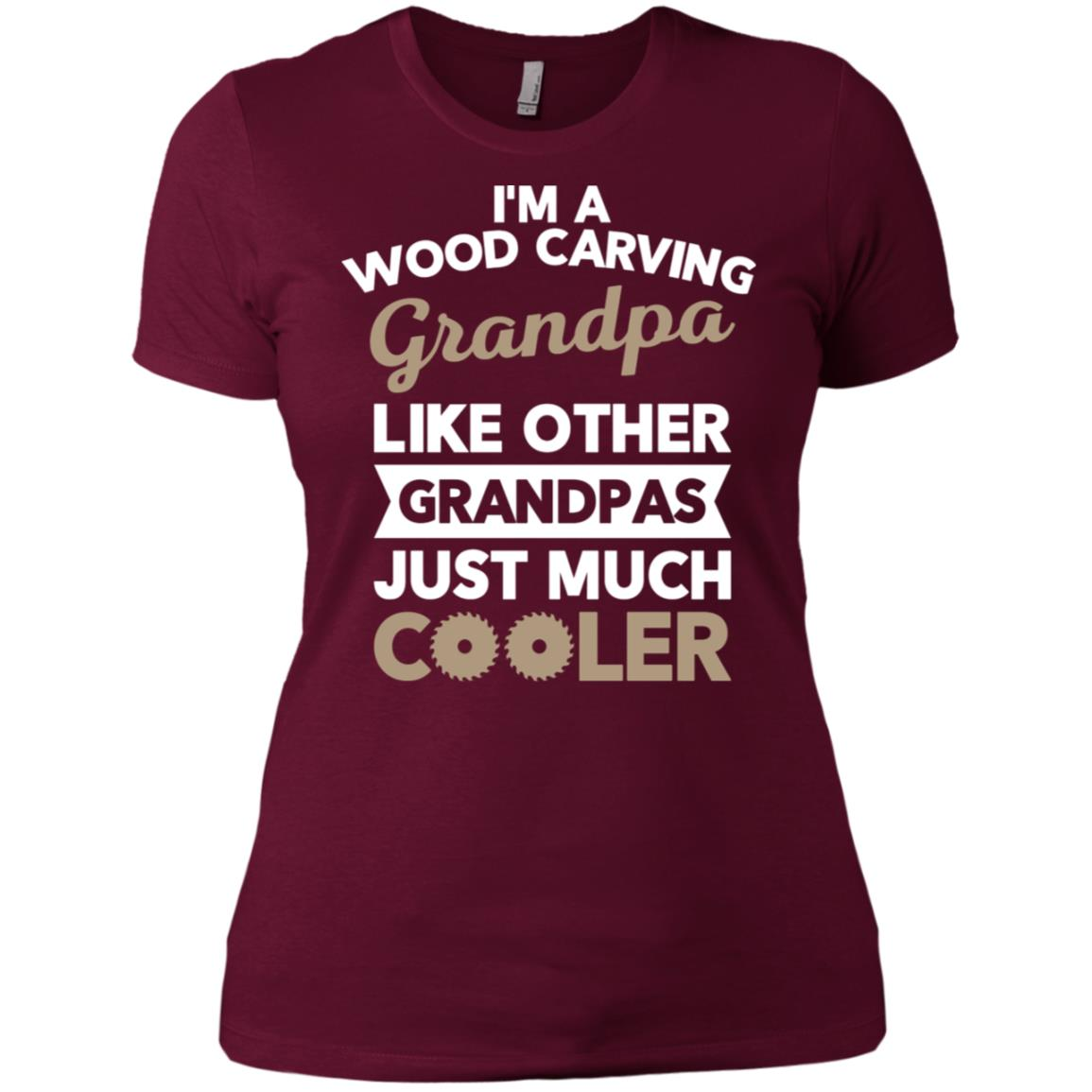 Wood Carving Grandpa Gift for Carpenter Women Short Sleeve