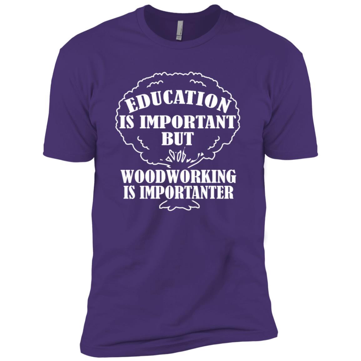 Woodworking Is Importanter Woodworking Mens Gift -1 Men Short Sleeve