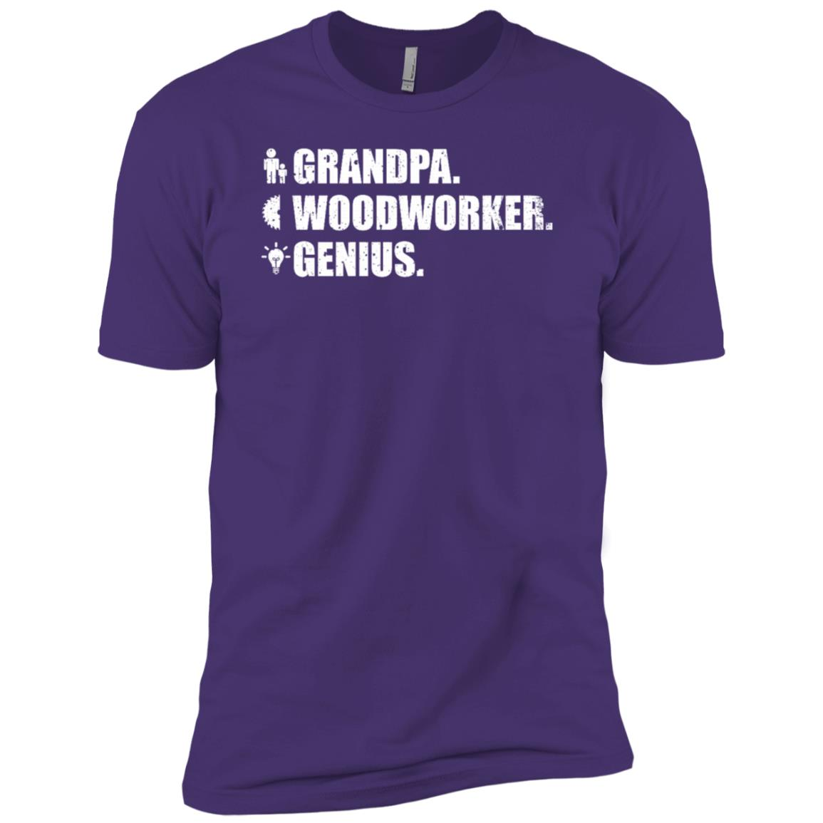 Woodworker Genius Funny Men Grandpa Woodworking Men Short Sleeve