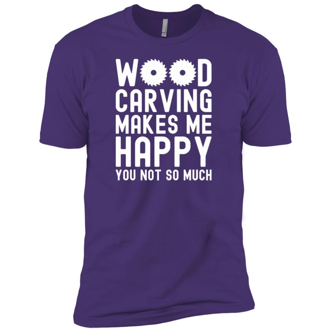 Wood Carving Woodworking Men Short Sleeve