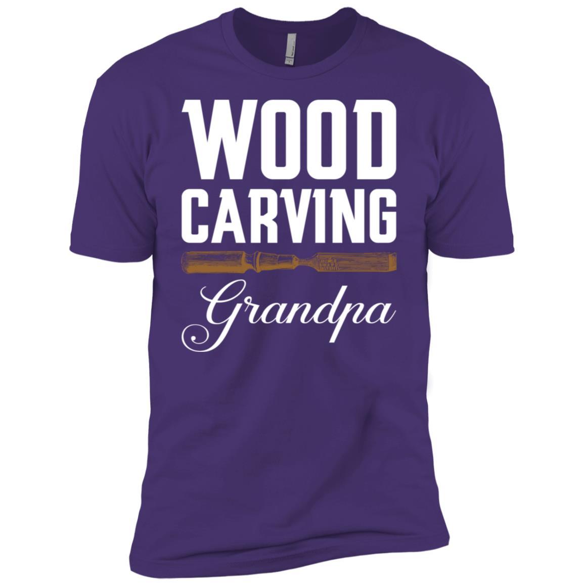Wood Carving Grandpa Woodworking Men Short Sleeve