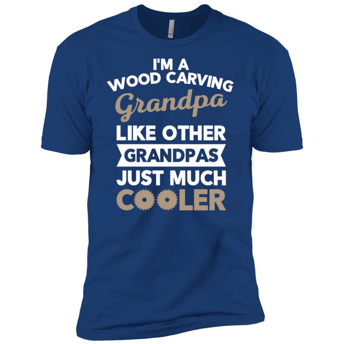 Wood Carving Grandpa Gift for Carpenter Men Short Sleeve