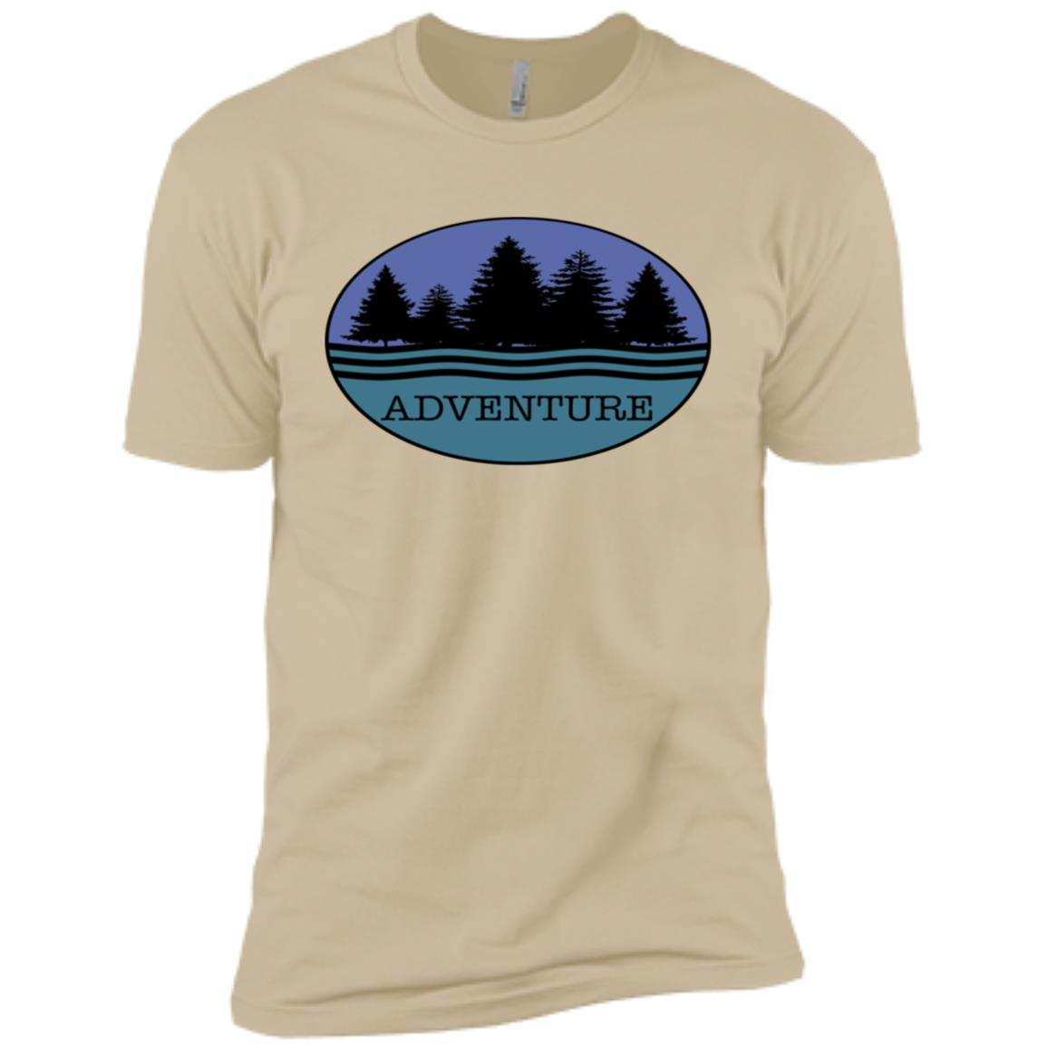 Adventure Nature Forest Trees Camp Hike Souvenirs Men Short Sleeve