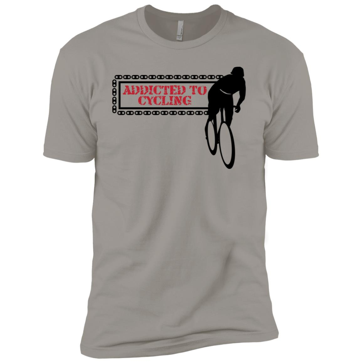 Addicted To Cycling Bicycle Chain Biker Men Short Sleeve