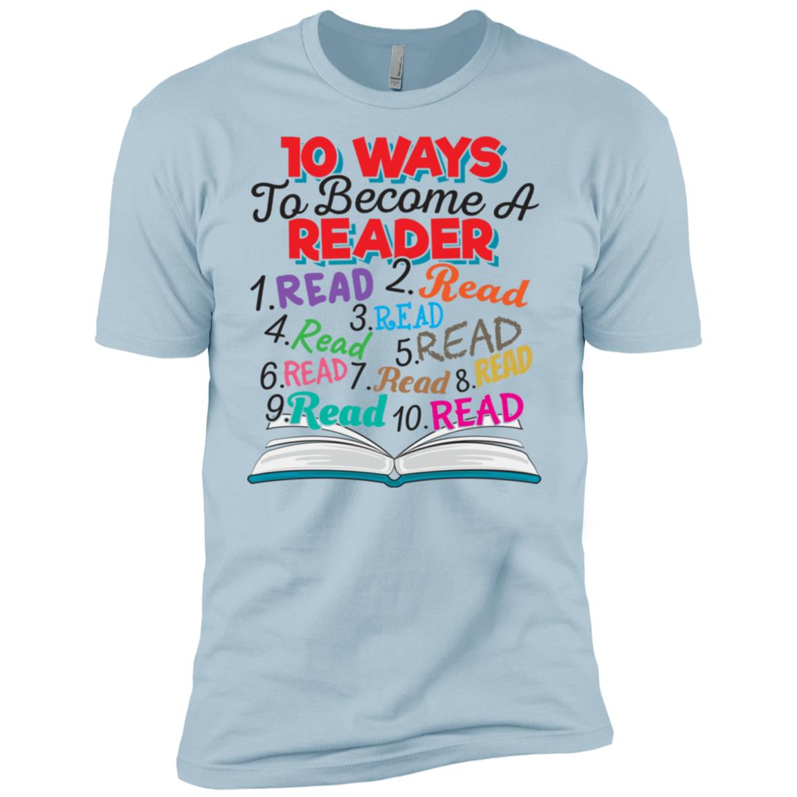10 Ways to Become a Reader Fun Education Idea Men Short Sleeve