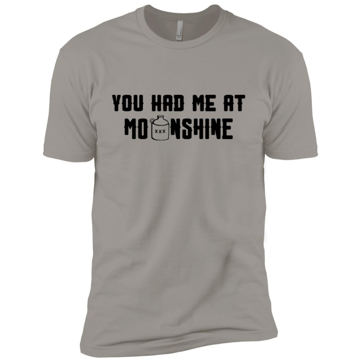 You Had Me At Moonshine Funny Moonshine Men Short Sleeve