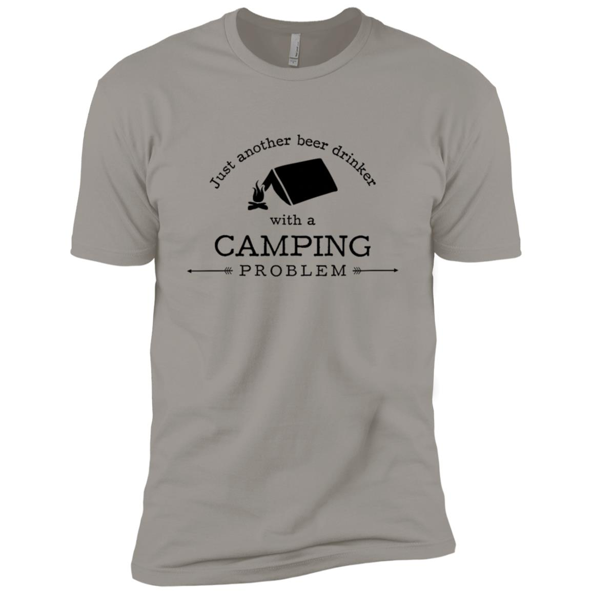 Beer Drinker With Camping Problem Funny Hiking Men Short Sleeve