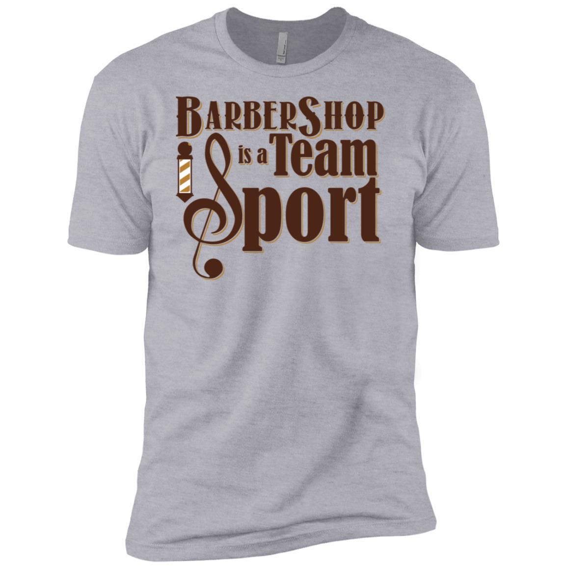 Barbershop is a Team Sport Barbershop Quartet Gift-1 Men Short Sleeve