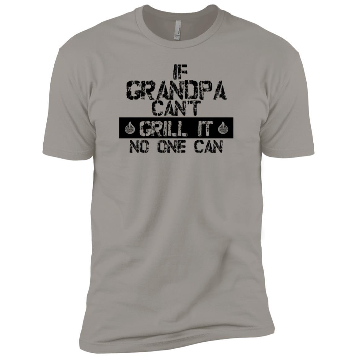 Back Print Grandpa Bbqs Funny Grilling Gift-1 Men Short Sleeve