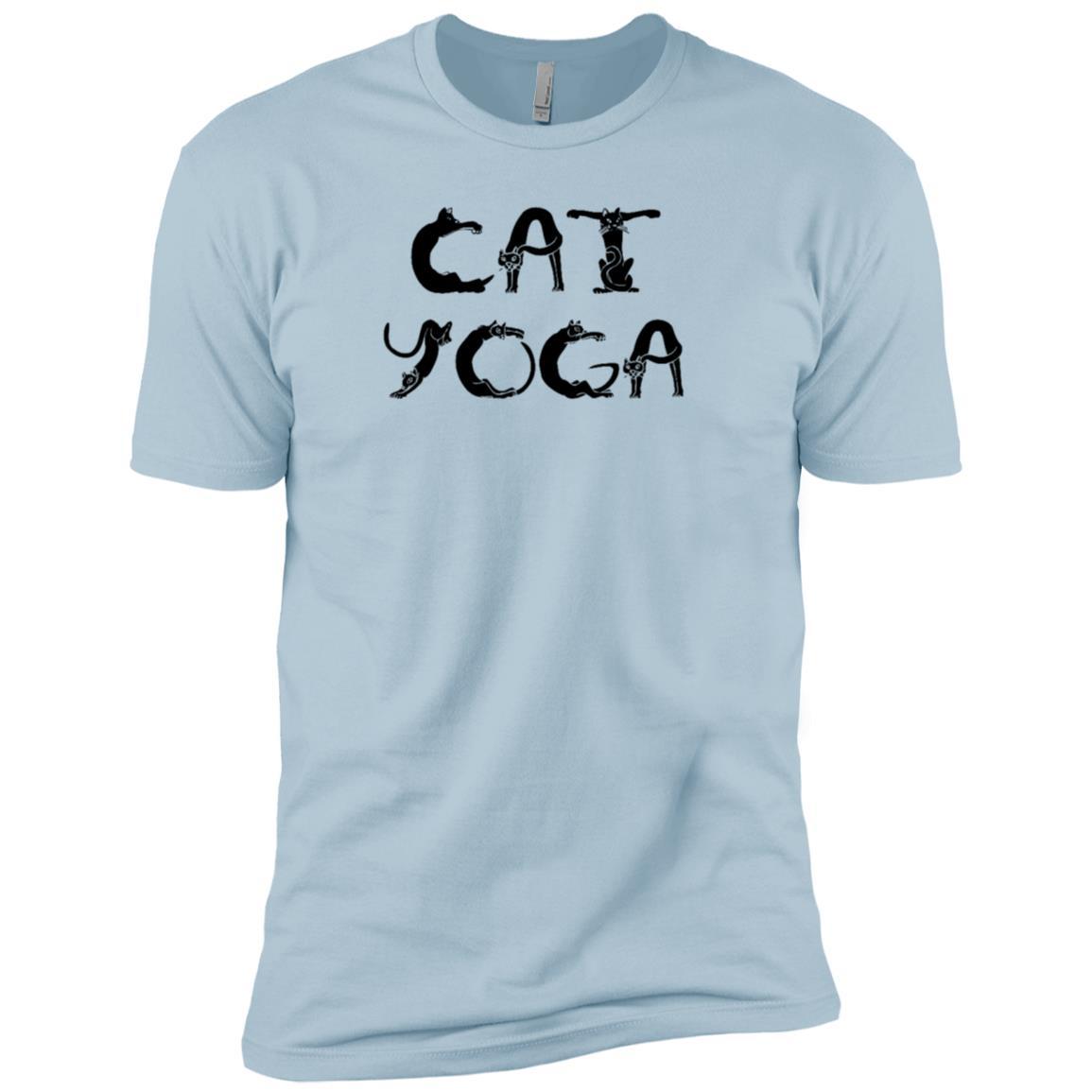 Cat Yoga kitty kitten yogi exercise funny-1 Men Short Sleeve