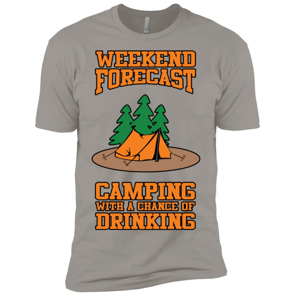 Camping With A Chance Of Drinking Trendy Men Short Sleeve