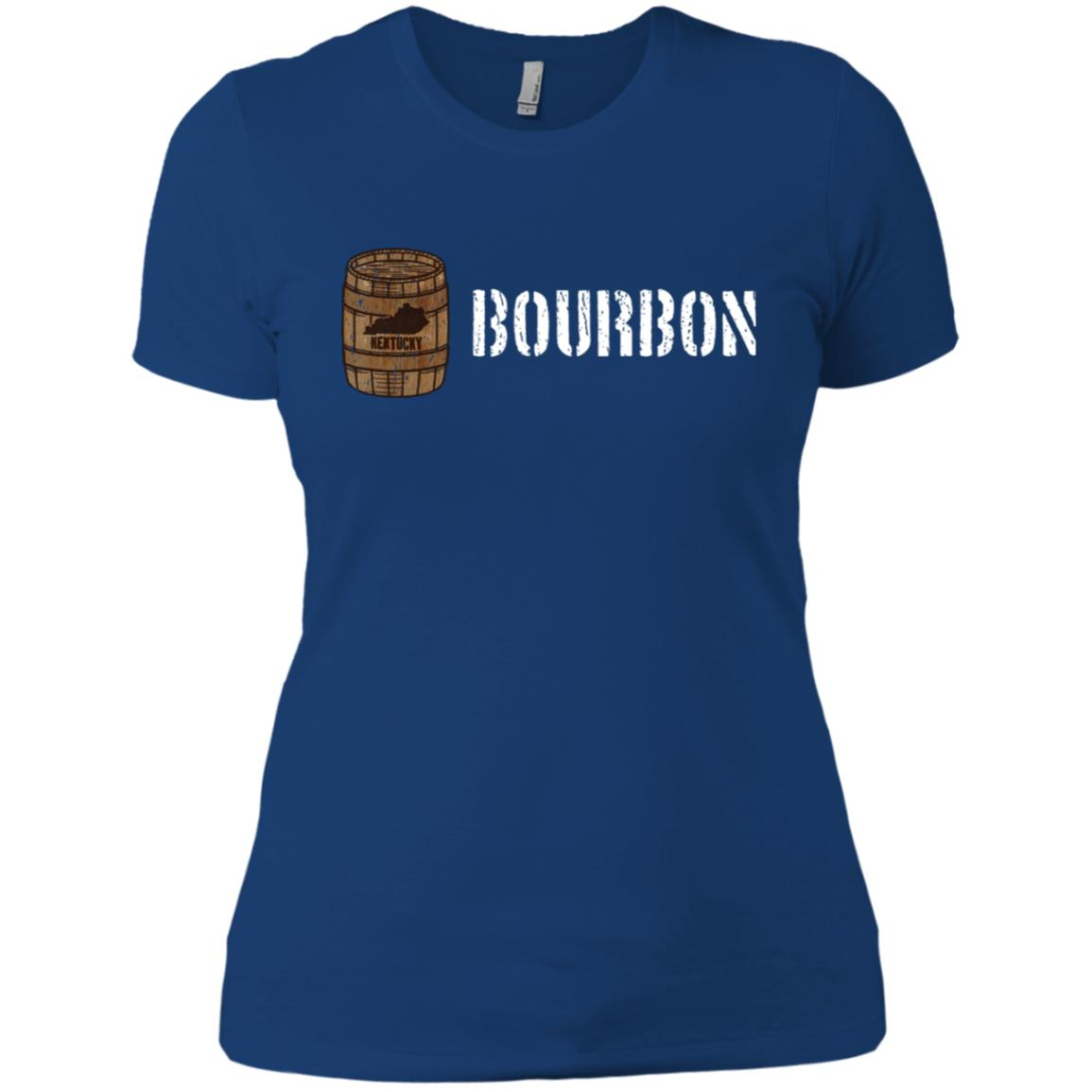 Bourbon – Distilled Bourbon Whiskey Gift Women Short Sleeve