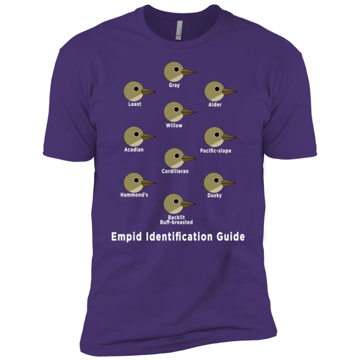 Birding Empid Id Guide Funny Birding Men Short Sleeve