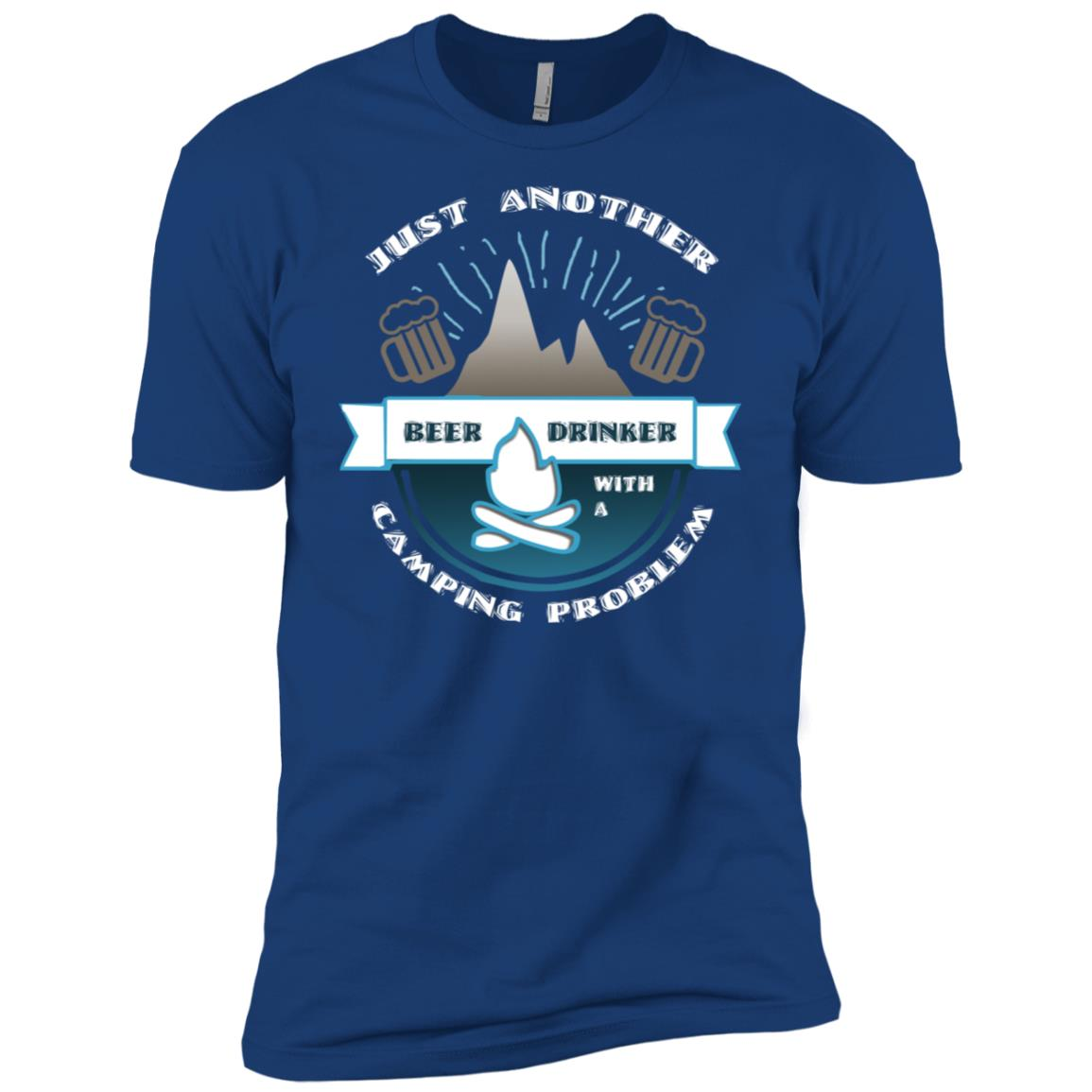 Beer Drinker With Camping Problem Cool Hiking Men Short Sleeve