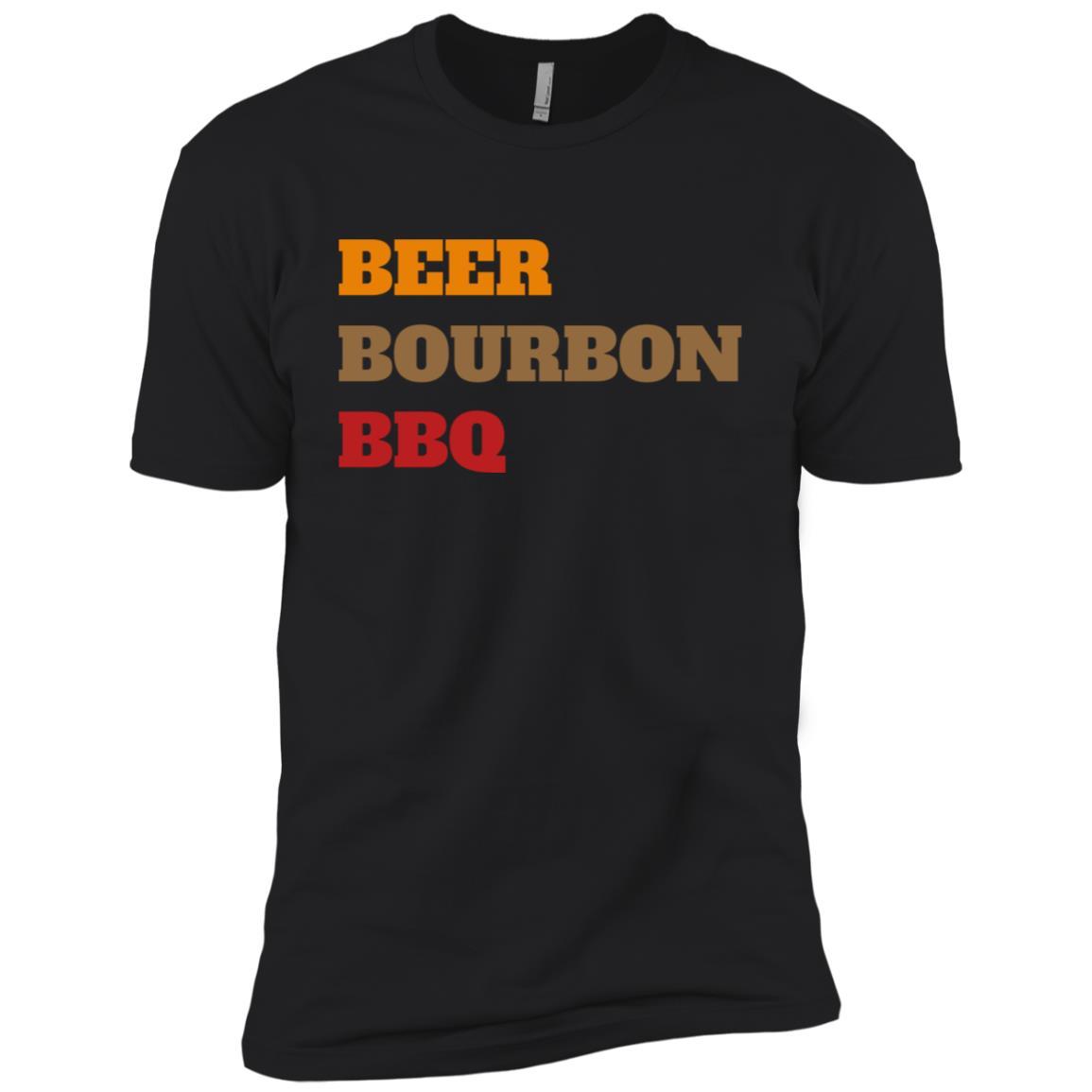 Beer Bourbon Bbq Novelty Men Short Sleeve