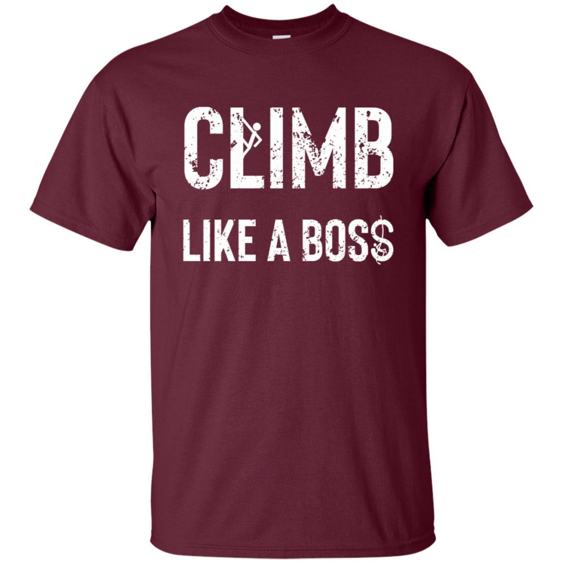 Climb Like A Boss Rocks Cool Gift Unisex Short Sleeve