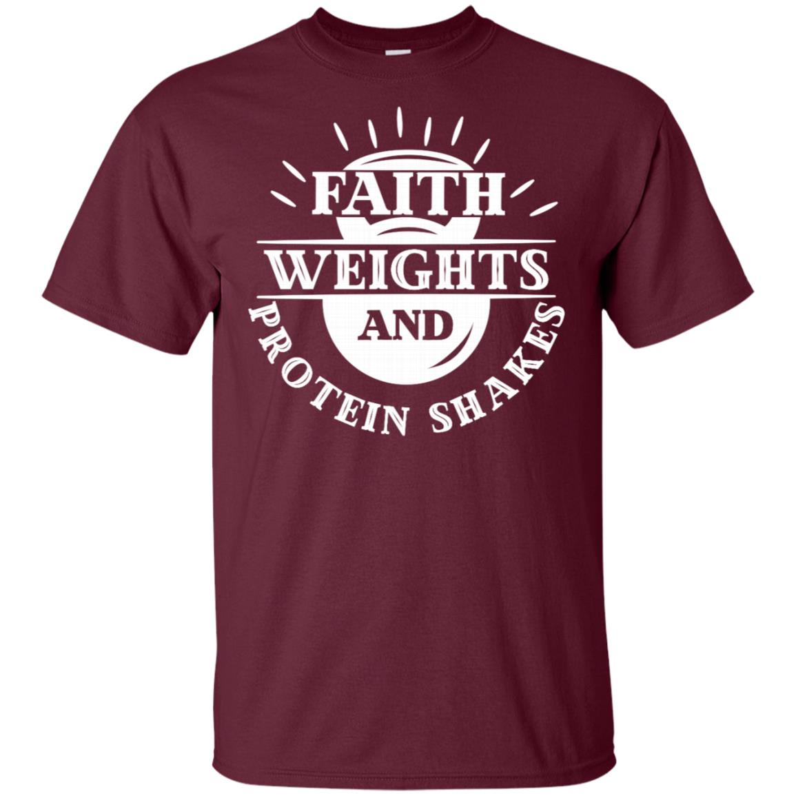 Christian Fitness Faith Weights Protein Unisex Short Sleeve