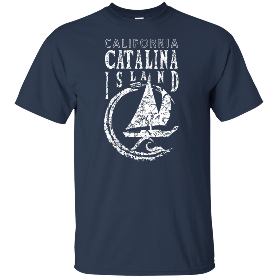 Catalina Island Sailing Sailboat Wave Unisex Short Sleeve