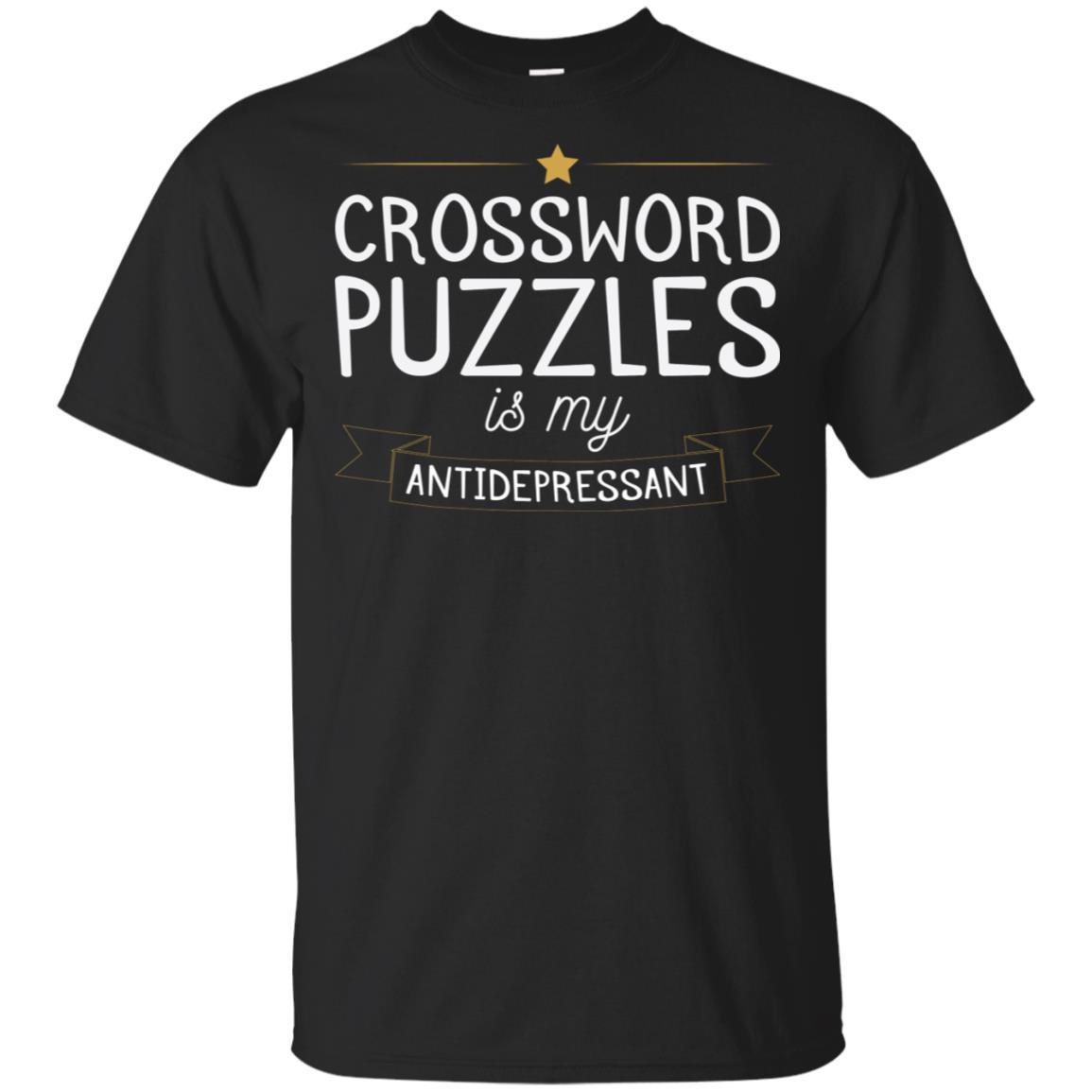 Crossword Puzzle is My Antidepressant Gaming Gift Unisex Short Sleeve