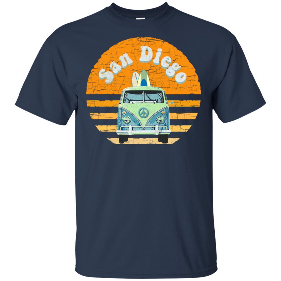 Vintage San Diego Hippie Van Beach Surfer Unisex Short Sleeve
