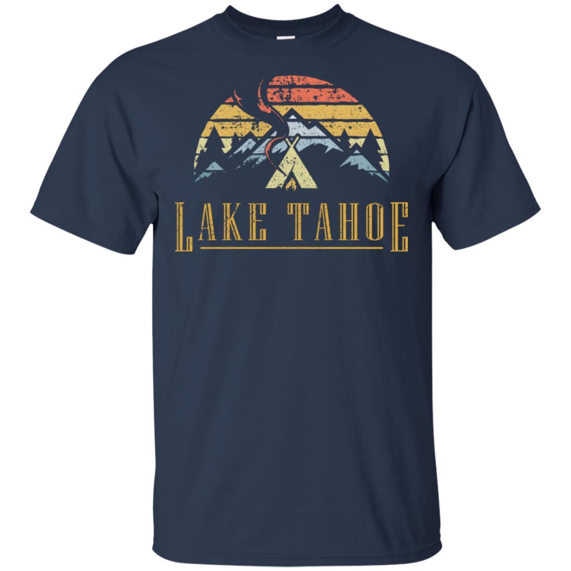 Vintage Lake Tahoe Campground Campfire Unisex Short Sleeve