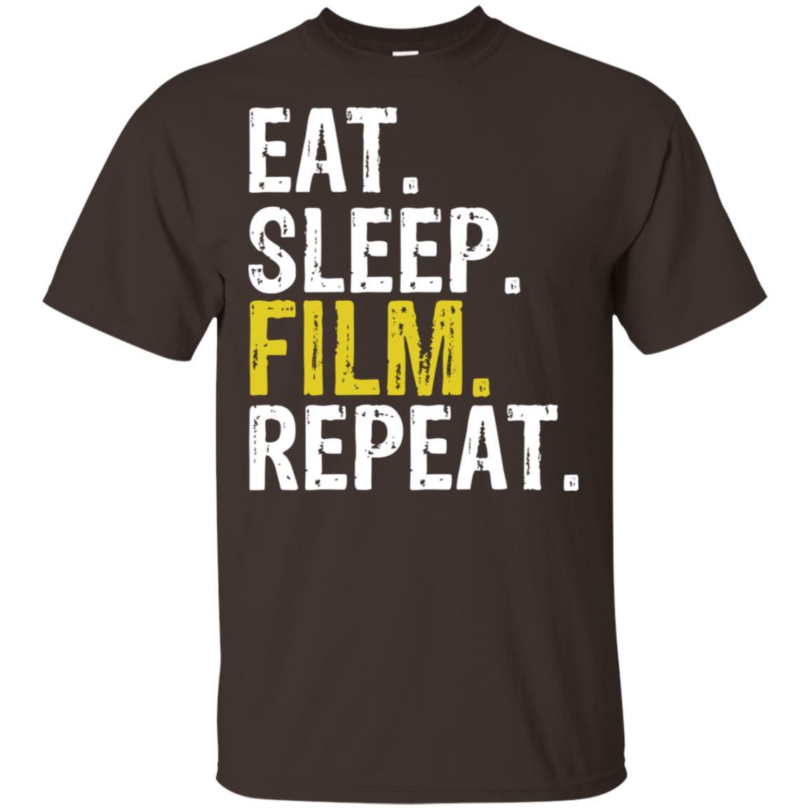 Eat Sleep Film Repeat Movie Actors Gift Unisex Short Sleeve
