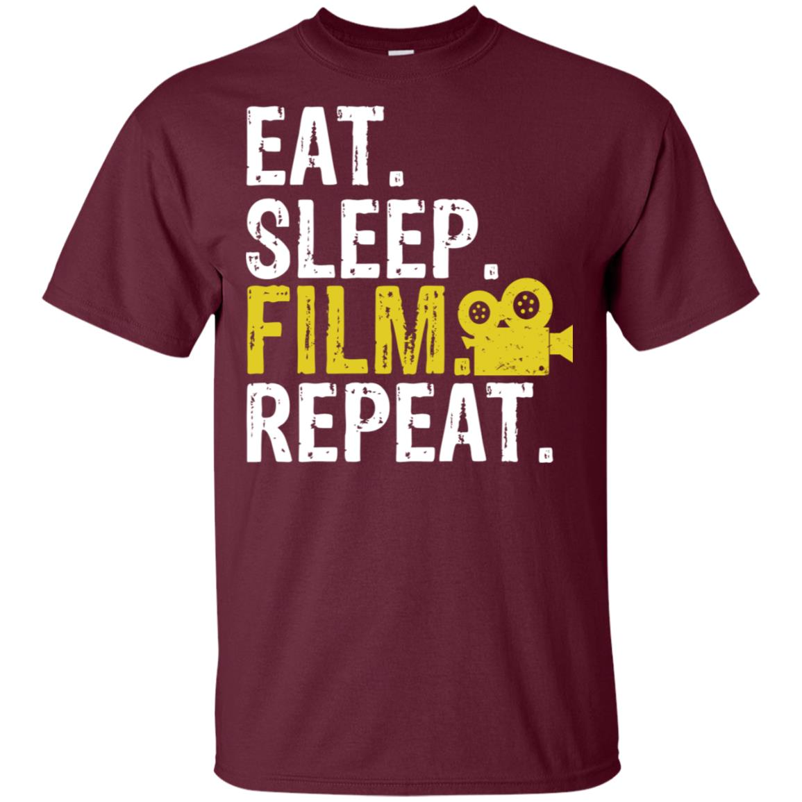Eat Sleep Film Repeat Movie Actors Gift-1 Unisex Short Sleeve