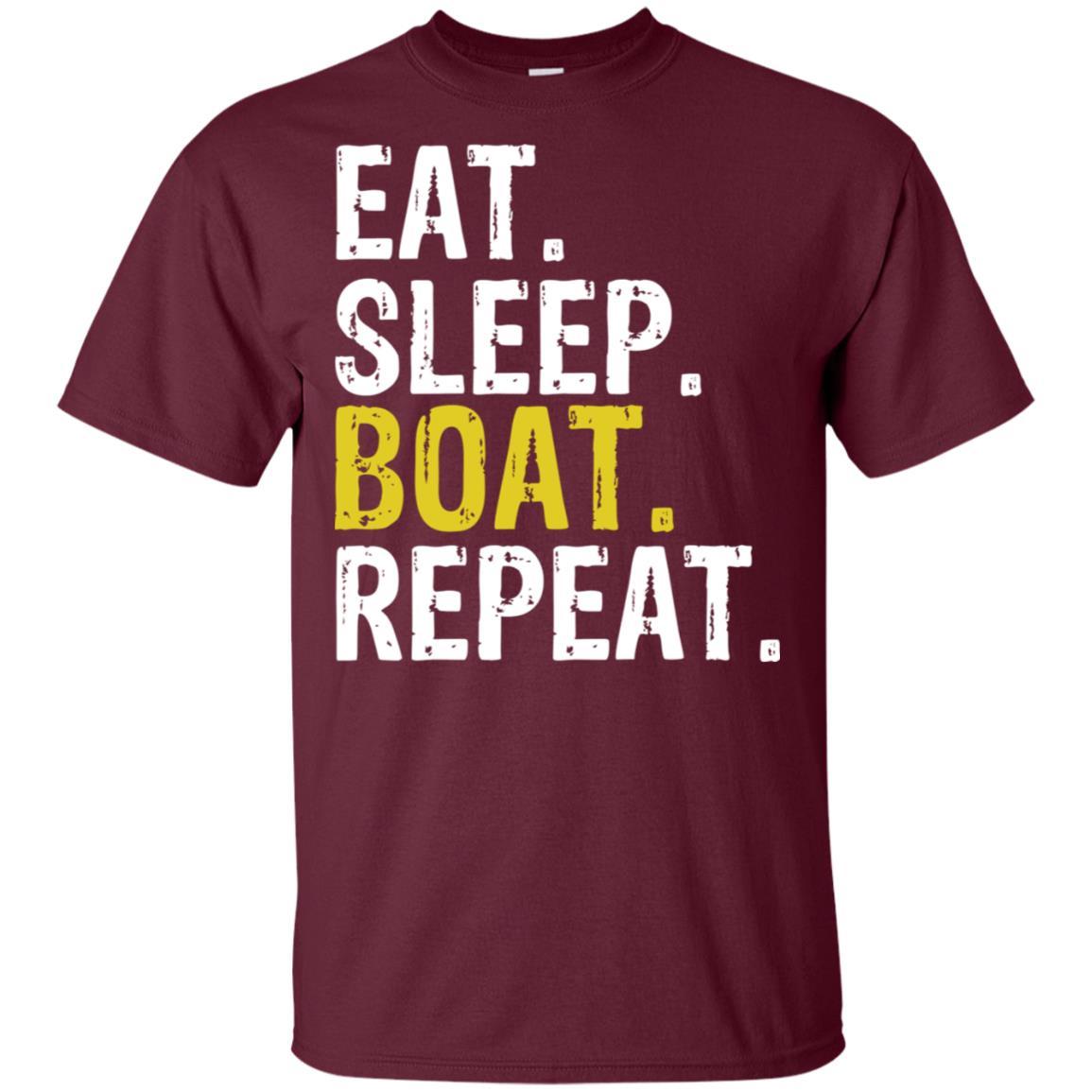 Eat Sleep Boat Repeat Sail Rowing Gift Unisex Short Sleeve