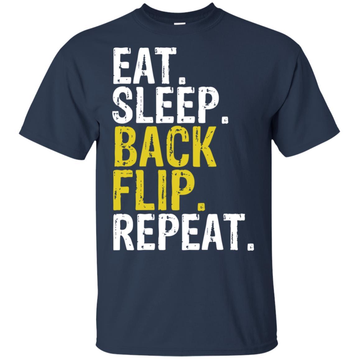 Eat Sleep Back Flip Repeat Acrobat Gymnastics Unisex Short Sleeve
