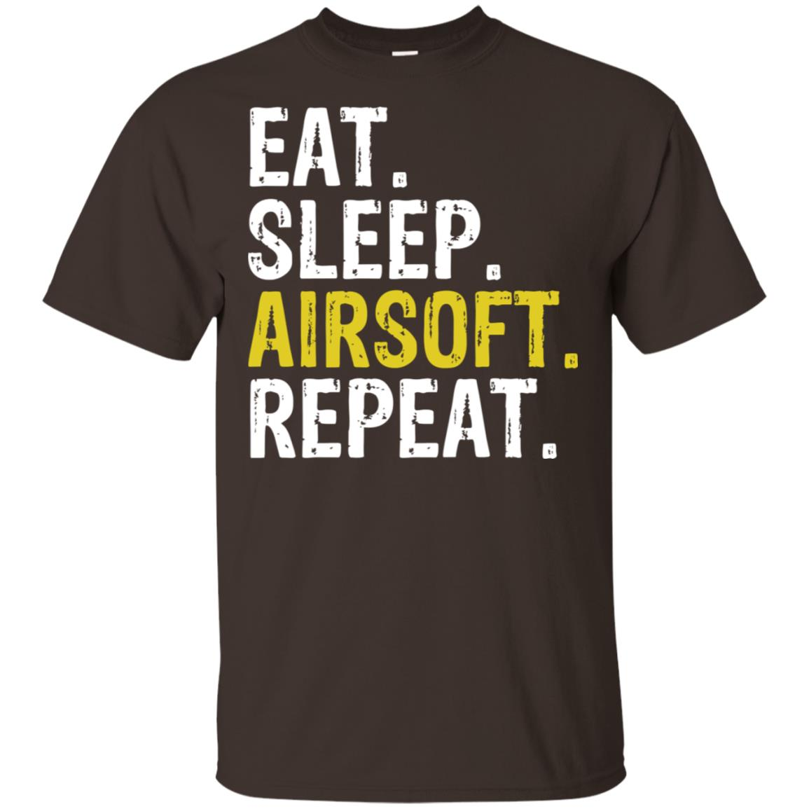 Eat Sleep Airsoft Repeat Sports Gift Unisex Short Sleeve