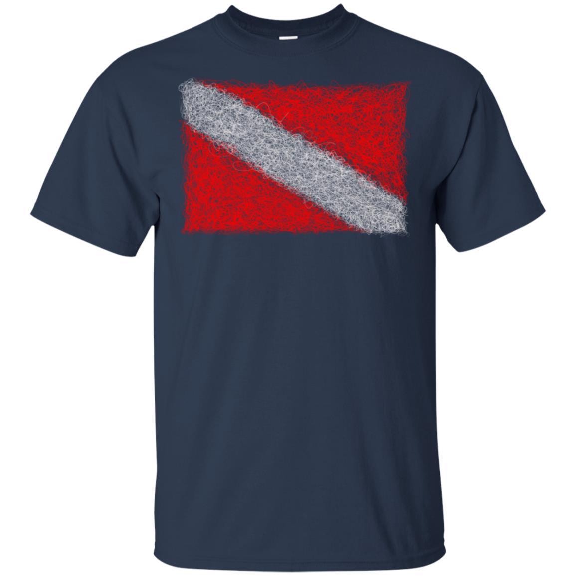 Diving Flag Style Threads Unisex Short Sleeve