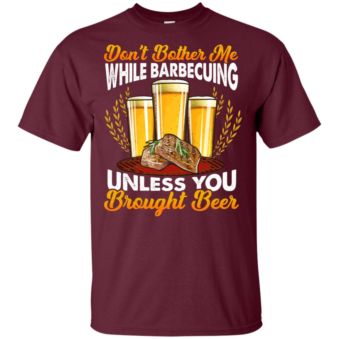 Don't Bother Me While Barbecuing Funny Bbq Unisex Short Sleeve