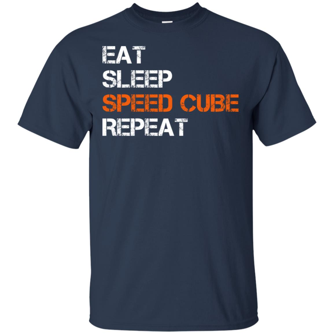 Eat Sleep Speed Cube Repeat Tee Puzzle Cube Unisex Short Sleeve