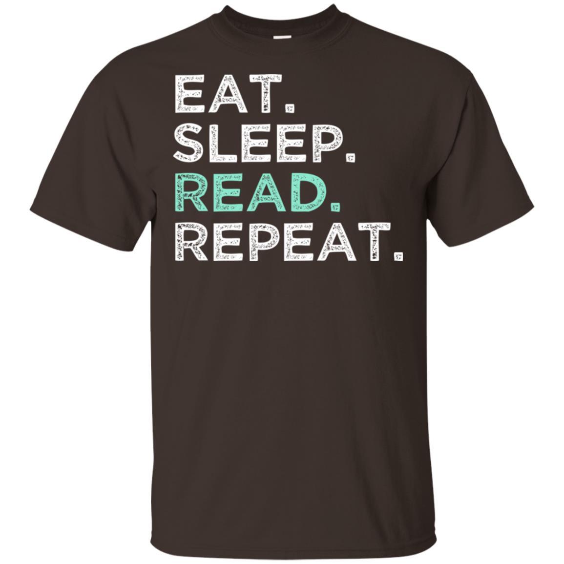 Eat Sleep Read Repeat. Funny Reading Unisex Short Sleeve