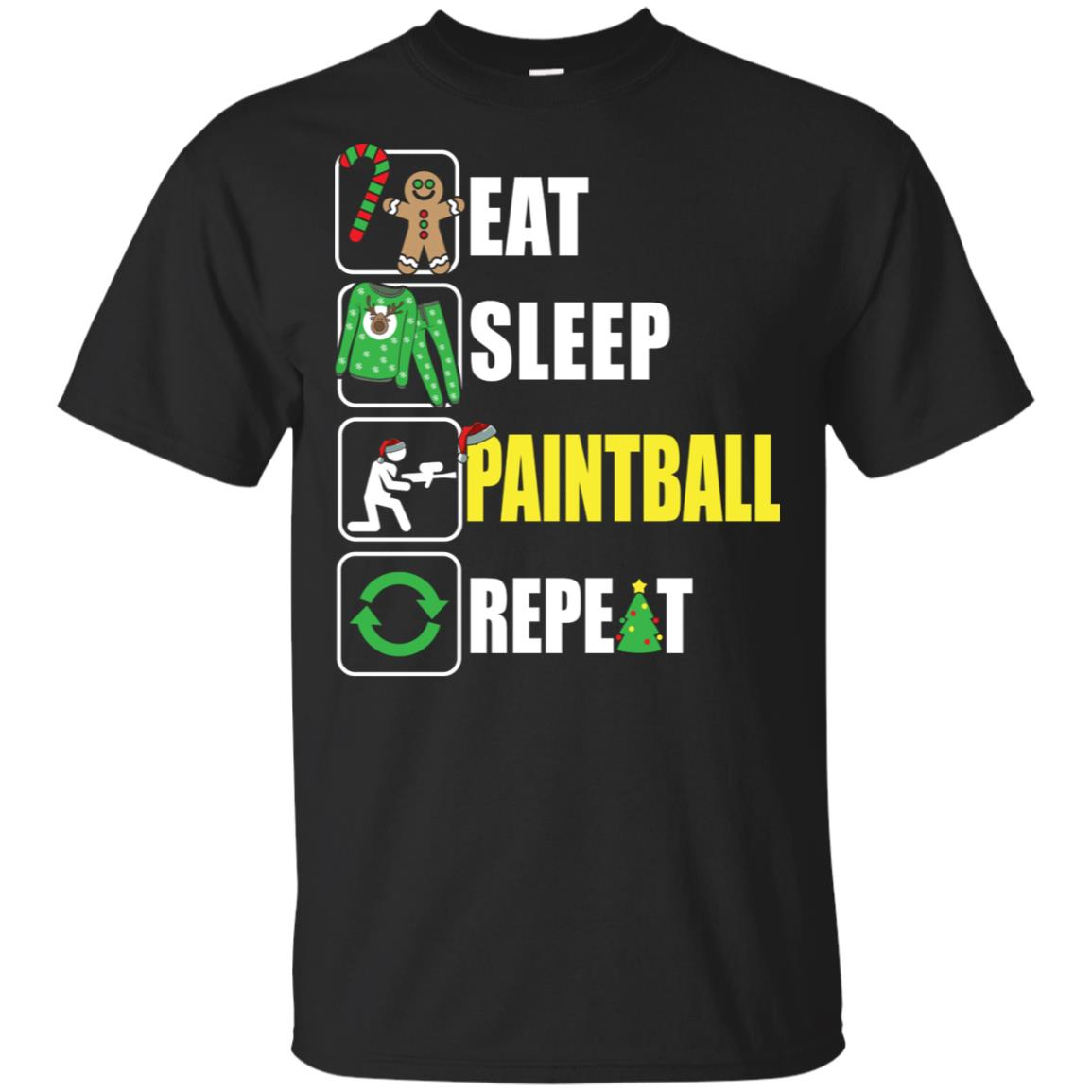 Eat Sleep Paintball Repeat Paintball Lover Unisex Short Sleeve