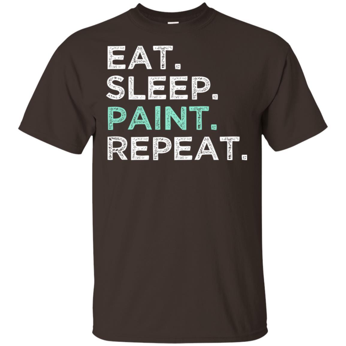 Eat Sleep Paint Repeat. Art Student Unisex Short Sleeve
