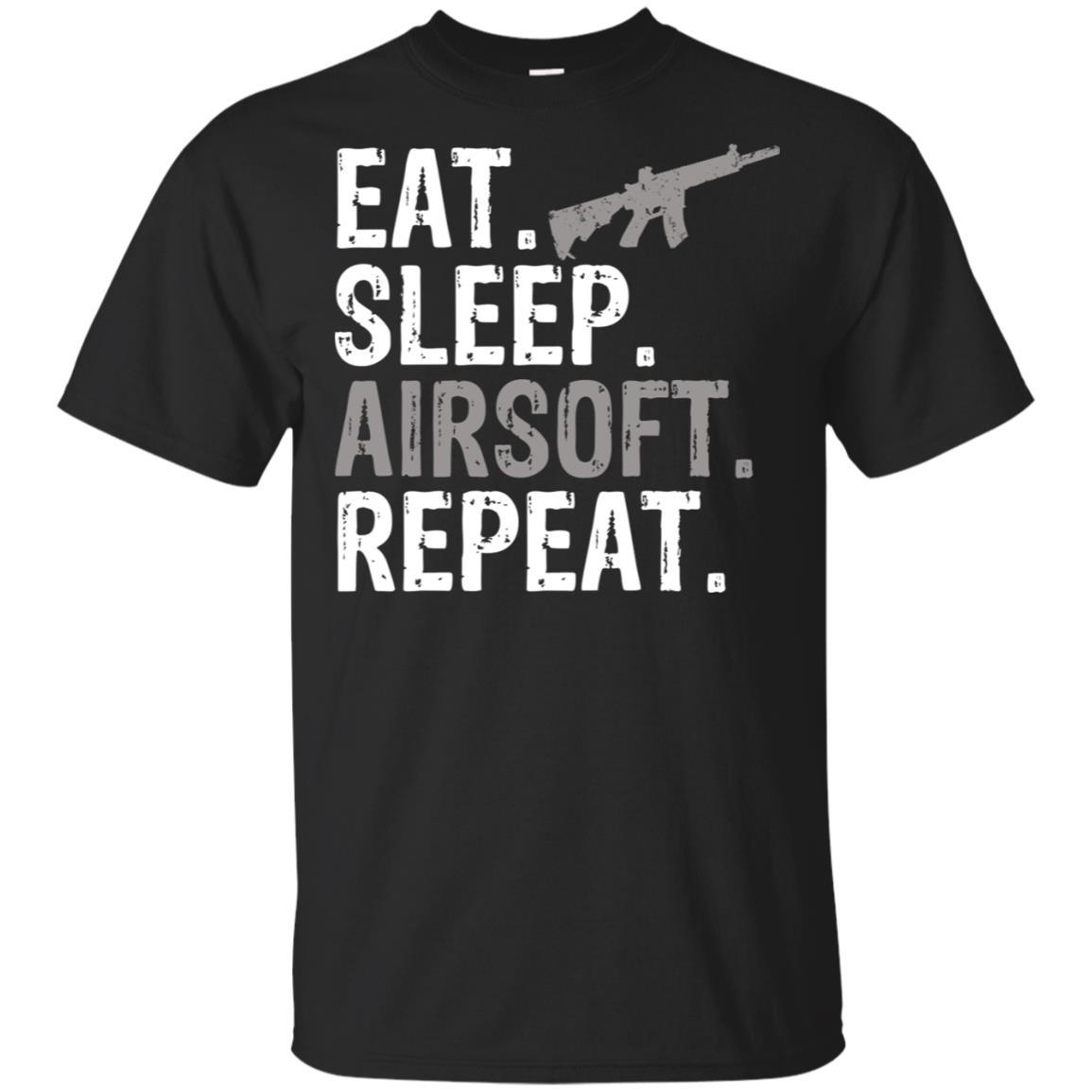 Eat Sleep Airsoft Repeat Sports Gift-2 Unisex Short Sleeve