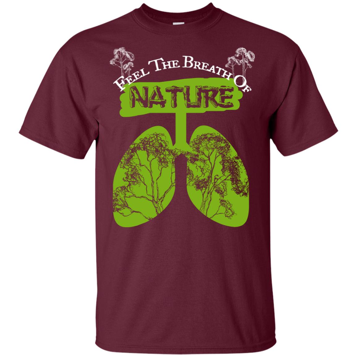 Feel Breath Of Nature Forest Camping & Outdoor Unisex Short Sleeve