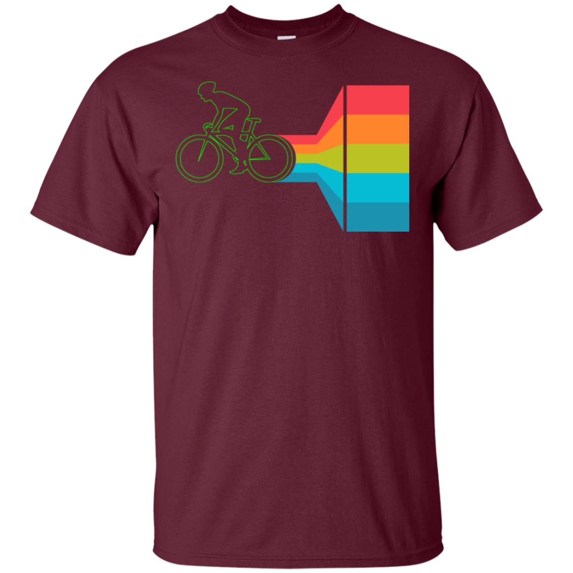 Fast Bicycle Rainbow Funny Best Bike Rider Gift Unisex Short Sleeve