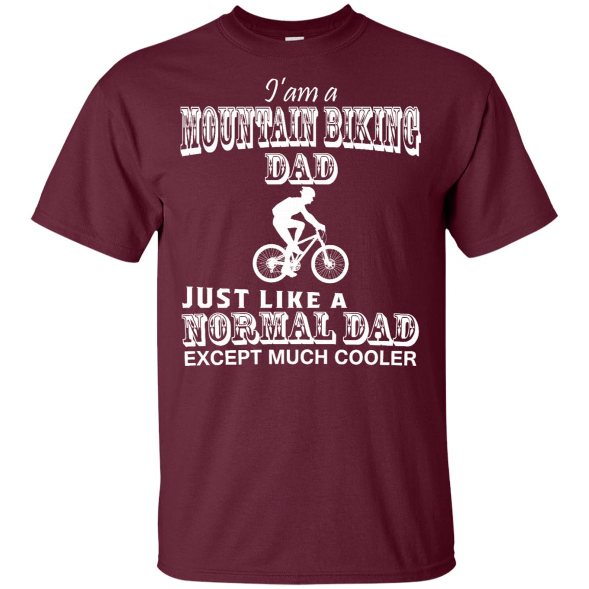 Father I'm A Mountain Biking Dad -Tee for young Unisex Short Sleeve