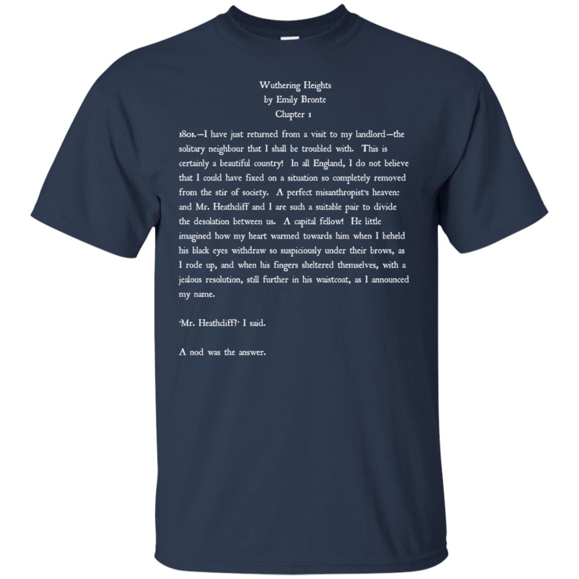 Emily Bronte Wuthering Heights Vintage Text Gift Unisex Short Sleeve