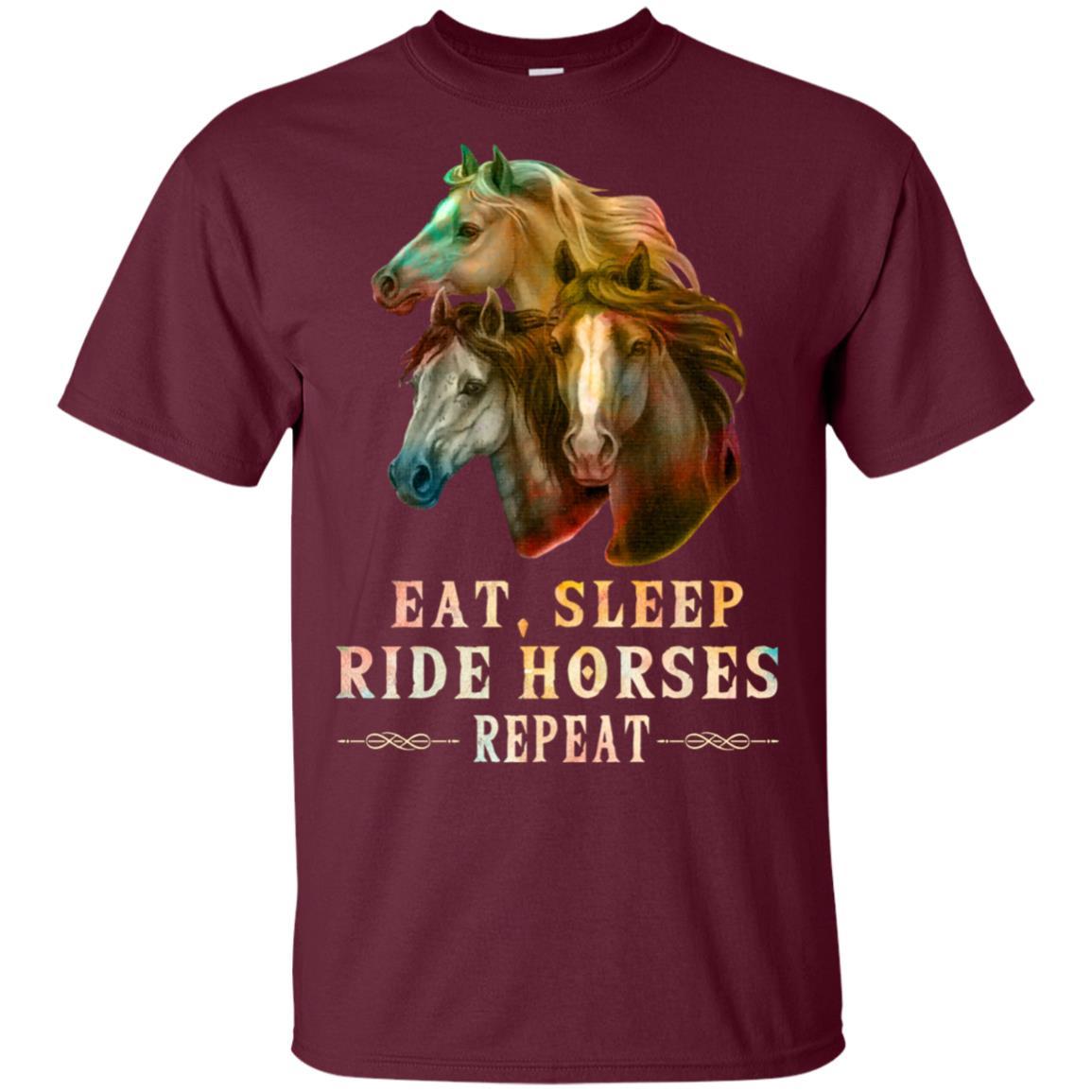 Eat Sleep Ride Horses Repeat Unisex Short Sleeve