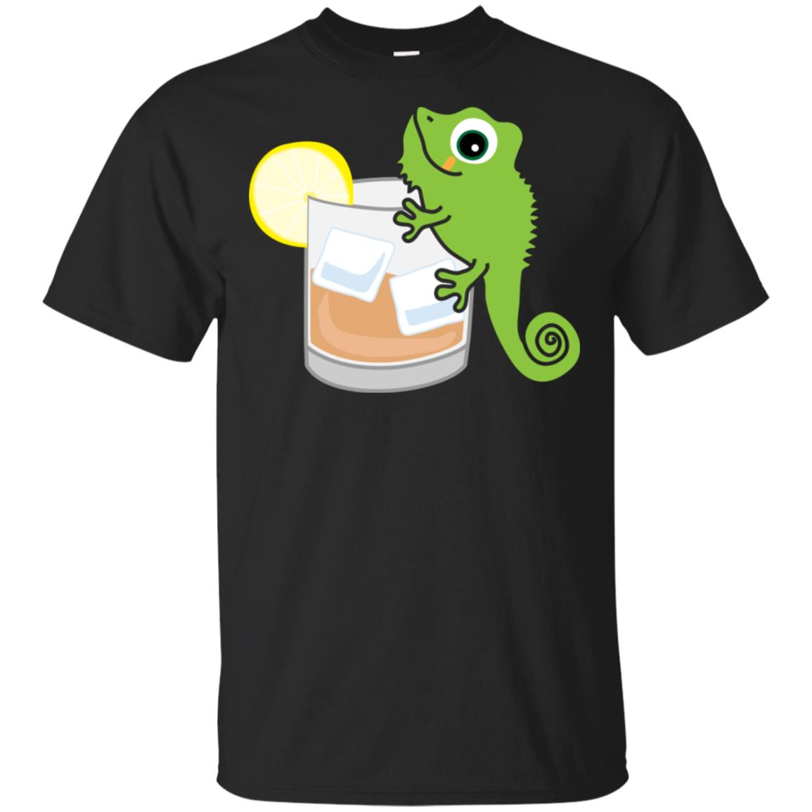 Funny Drink Reptile on the Rocks Party Unisex Short Sleeve