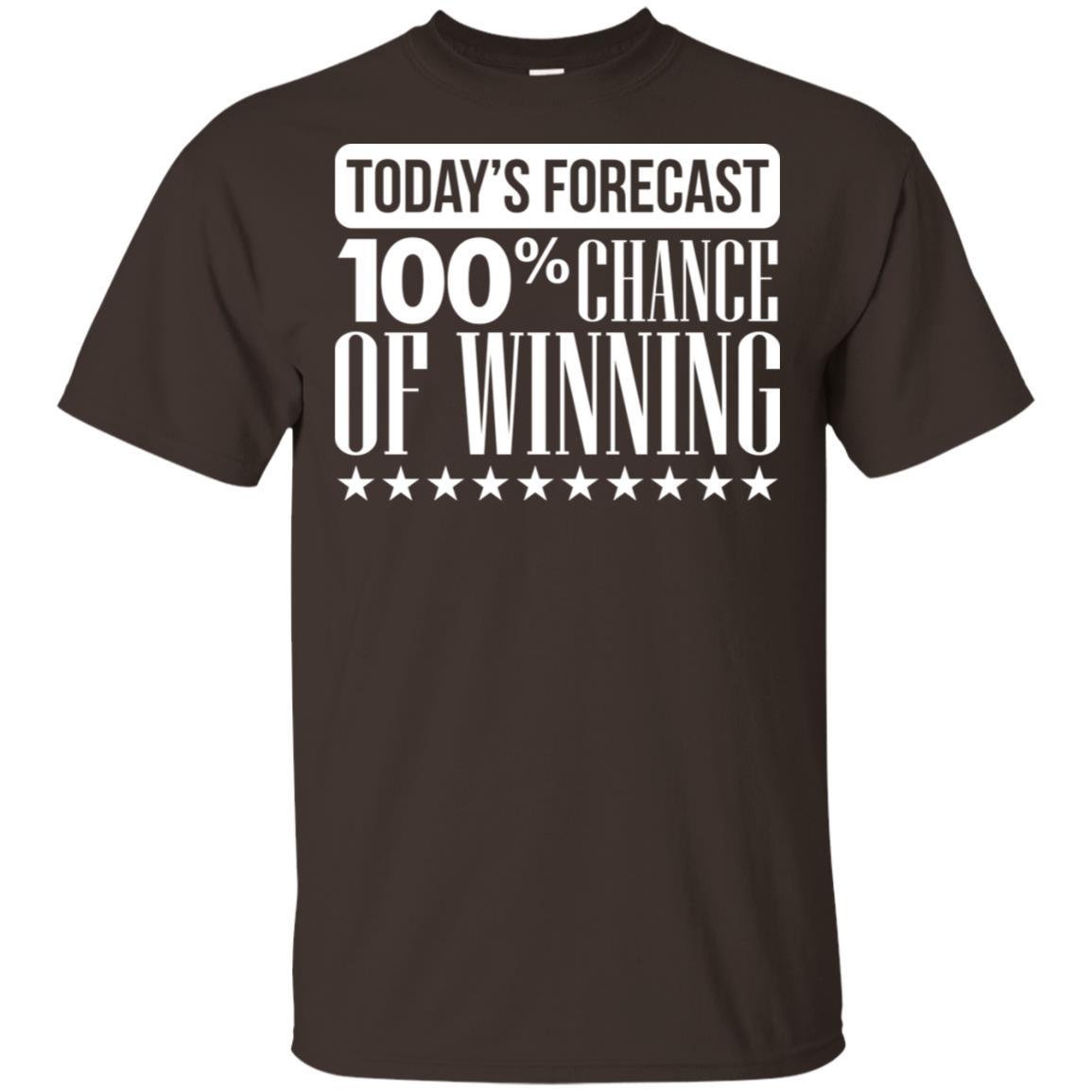 Forecast 100% Chance Of Winning Funny Sports Gift Ls-1 Unisex Short Sleeve